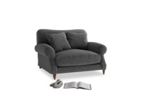 Crumpet Love seat in Shadow Grey wool