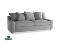 Large Cloud Sofa in Magnesium washed cotton linen