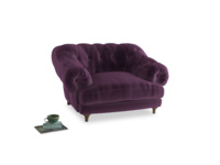 Bagsie Love Seat in Grape clever velvet