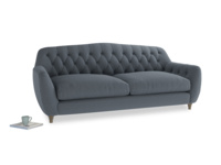 Large Butterbump Sofa in Blue Storm washed cotton linen