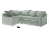 Large Left Hand Cloud Corner Sofa in Mint clever velvet