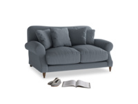 Small Crumpet Sofa in Blue Storm washed cotton linen