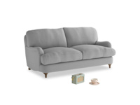 Small Jonesy Sofa in Magnesium washed cotton linen