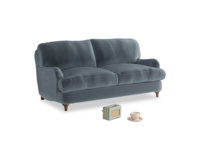 Small Jonesy Sofa in Mermaid plush velvet