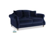 Small Sloucher Sofa in Midnight plush velvet