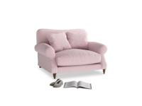 Crumpet Love seat in Pale Rose vintage linen