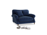 Crumpet Love seat in Ink Blue wool