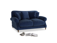 Small Crumpet Sofa in Ink Blue wool