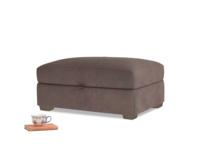Bumper Storage Footstool in Dark Chocolate beaten leather