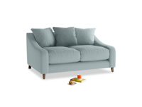 Small Oscar Sofa in Smoke blue brushed cotton