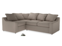 Large Left Hand Cloud Corner Sofa in Driftwood brushed cotton