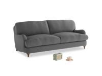 Medium Jonesy Sofa in Ash washed cotton linen
