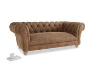 Medium Young Bean Sofa in Walnut beaten leather