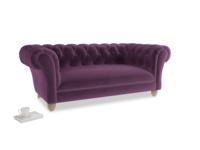 Medium Young Bean Sofa in Grape clever velvet