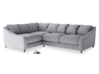 Large Left Hand Oscar Corner Sofa  in Dove grey wool