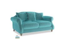 Small Sloucher Sofa in Belize clever velvet