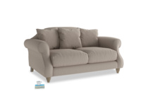 Small Sloucher Sofa in Driftwood brushed cotton