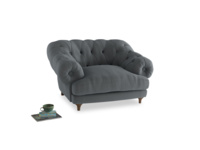 Bagsie Love Seat in Dusk vintage linen