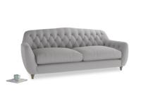 Large Butterbump Sofa in Flint brushed cotton