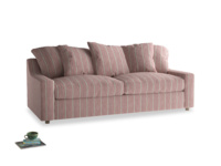 Large Cloud Sofa in Red french stripe