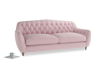 Large Butterbump Sofa in Pale Rose vintage linen