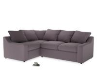 Large Left Hand Cloud Corner Sofa in Lavender brushed cotton