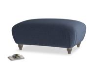 Rectangle Homebody Footstool in Indigo vintage linen