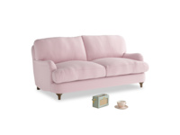 Small Jonesy Sofa in Pale Rose vintage linen