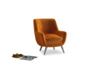 Berlin Armchair in Spiced Orange clever velvet