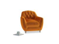 Butterbump Armchair in Spiced Orange clever velvet