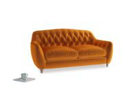 Medium Butterbump Sofa in Spiced Orange clever velvet
