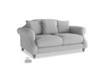 Small Sloucher Sofa in Mist cotton mix