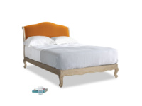 Double Coco Bed in Spiced Orange clever velvet