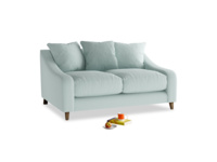 Small Oscar Sofa in Gull's Egg Brushed Cotton