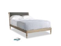 Double Darcy Bed in Steel clever velvet