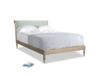 Double Darcy Bed in Mint clever velvet