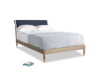 Double Darcy Bed in Indigo vintage linen