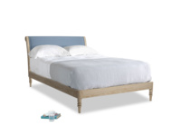 Double Darcy Bed in Nordic blue brushed cotton