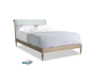Double Darcy Bed in Duck Egg vintage linen