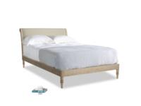 Double Darcy Bed in Jute vintage linen