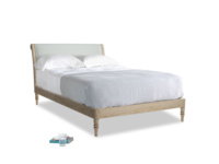 Double Darcy Bed in French blue brushed cotton