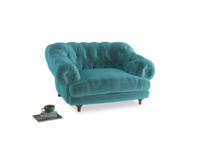 Bagsie Love Seat in Belize clever velvet