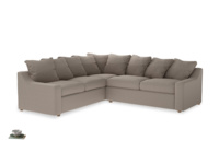 XL Left Hand Corner Cloud Corner Sofa Bed in Driftwood brushed cotton