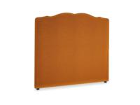 Double Marie Headboard in Spiced Orange clever velvet