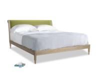 Superking Darcy Bed in Olive plush velvet