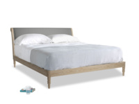 Superking Darcy Bed in French Grey brushed cotton