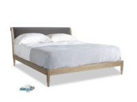 Superking Darcy Bed in Steel clever velvet