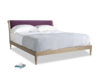 Superking Darcy Bed in Grape clever velvet