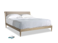 Superking Darcy Bed in Fawn clever velvet
