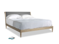 Superking Darcy Bed in Ash washed cotton linen